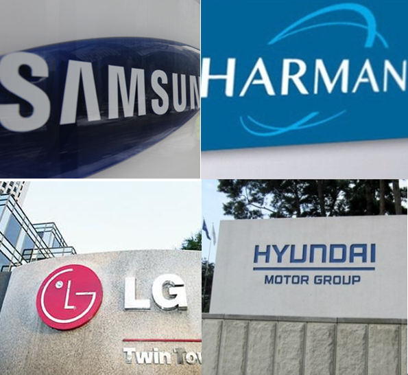 LG Electronics and Hyundai Motor are trying to remain calm on Samsung Electronics' acquiring Harman International Industries, their car audio business partner.
