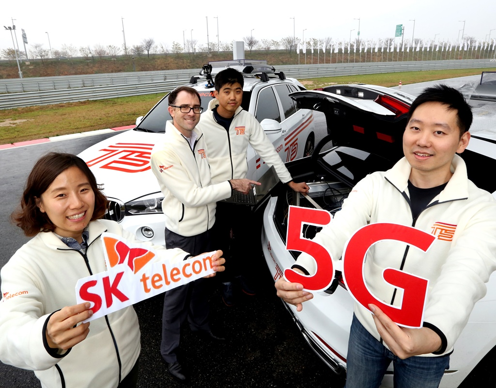 SK Telecom Demonstrates World's First 5G Connected Car - 비즈니스