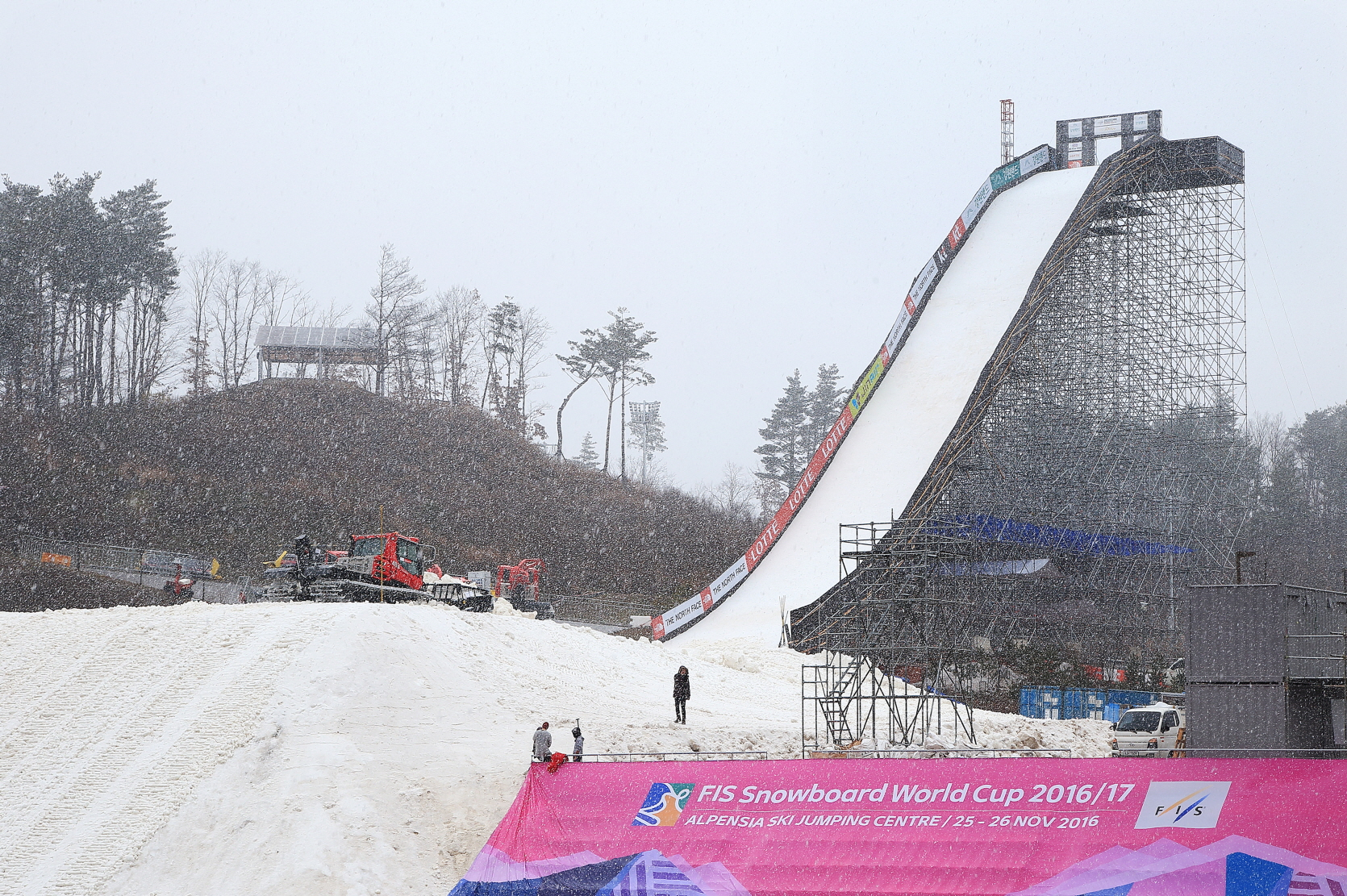 Big Air, a venue of the FIS Snowboard World Cup, is making its debut as an Olympic event in 2018.