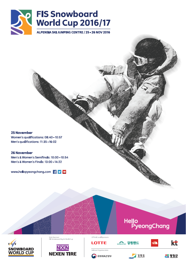 The poster of the FIS Snowboard World Cup 2016/2017.