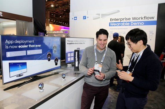"Samsung SDS officials are looking at a smartwatch with ""Enterprise Mobility Management (EMM)"" solution at the CES 2017."