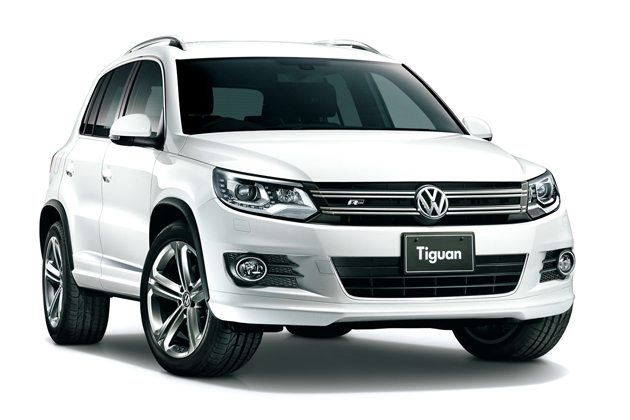 The Volkswagen Tiguan SUV which is to begin the recall procedures with the government's approval of its recall plans on Jan. 12