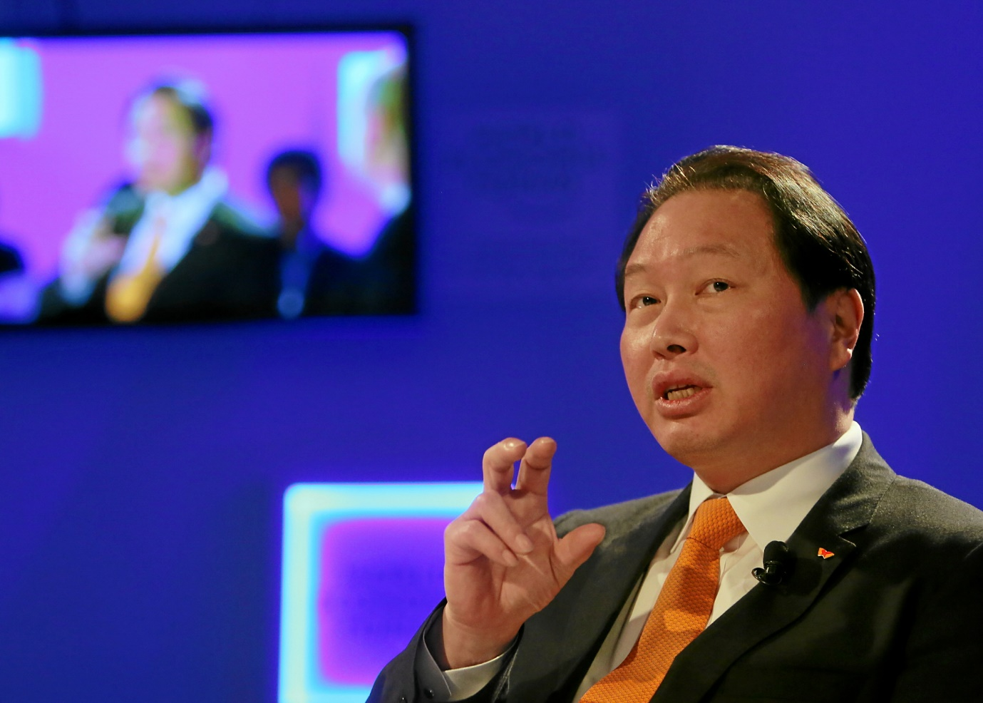 SK Group chairman Chey Tae-won is leading the global businesses of the group's affiliates.