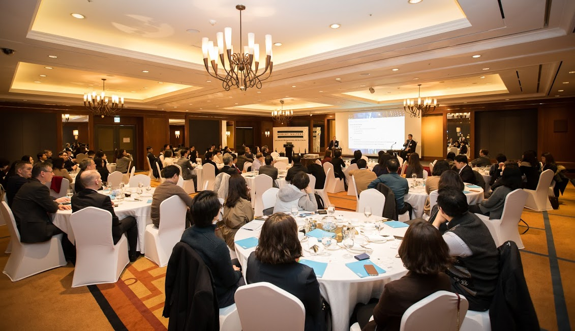Over 100 human resources professionals attend an event hosted by Robert Walters Korea to speak about local salary trends at the Grand Intercontinental Seoul on Feb. 2, 2017.