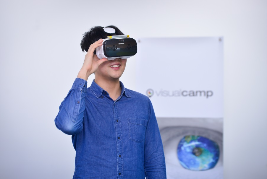 VR visual tracking technology developed by Visualcamp was showcased at the MWC 2017 after Samsung Electronics loaded it on its next generation all-in-one type HMD.