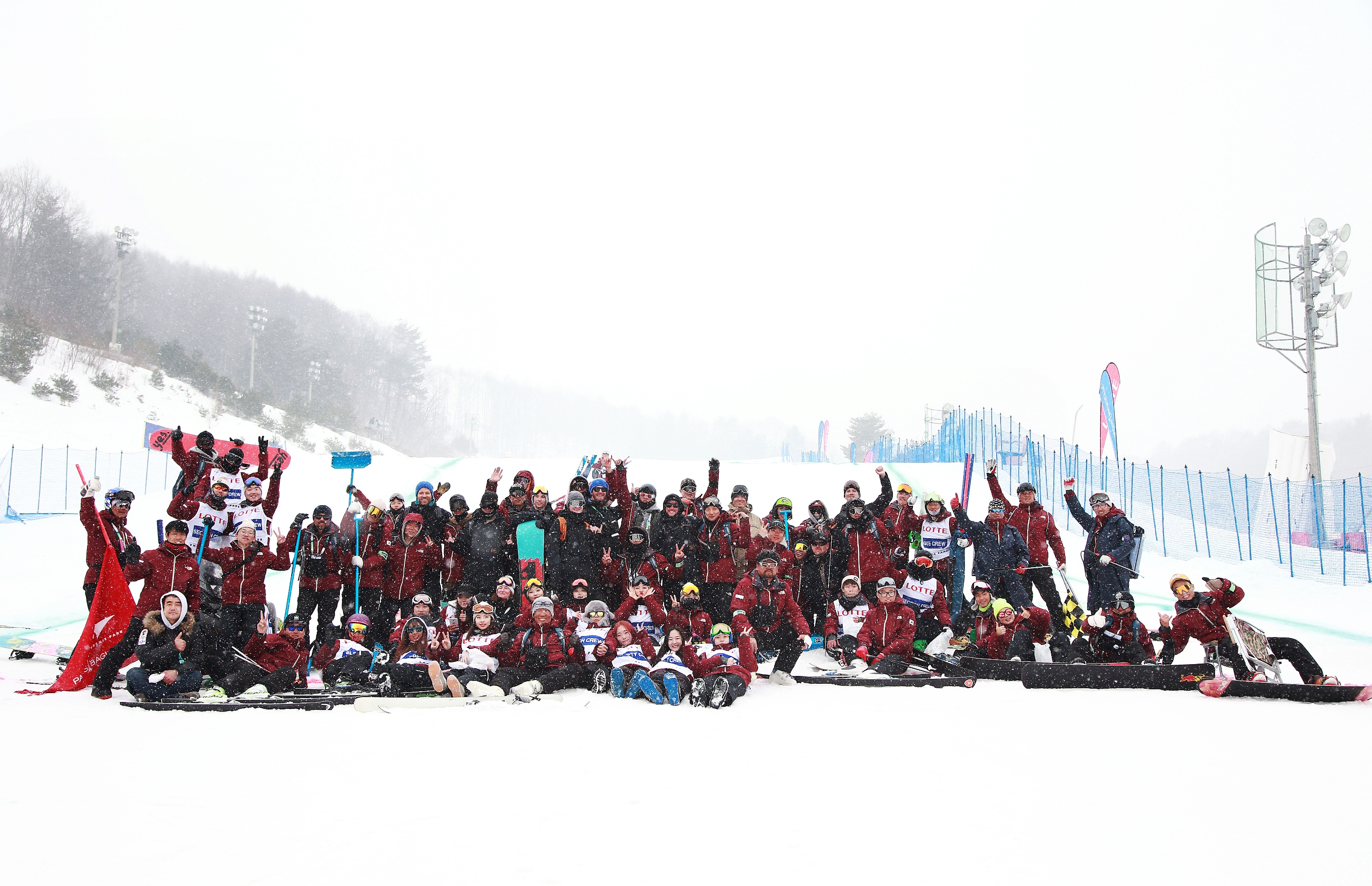 PyeongChang workforce at the Bokwang Snow Park during the test events.