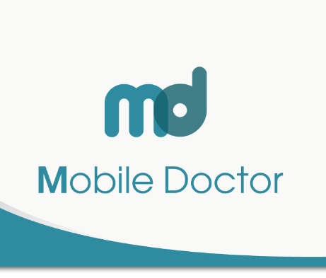 The logo of Mobile Doctor.