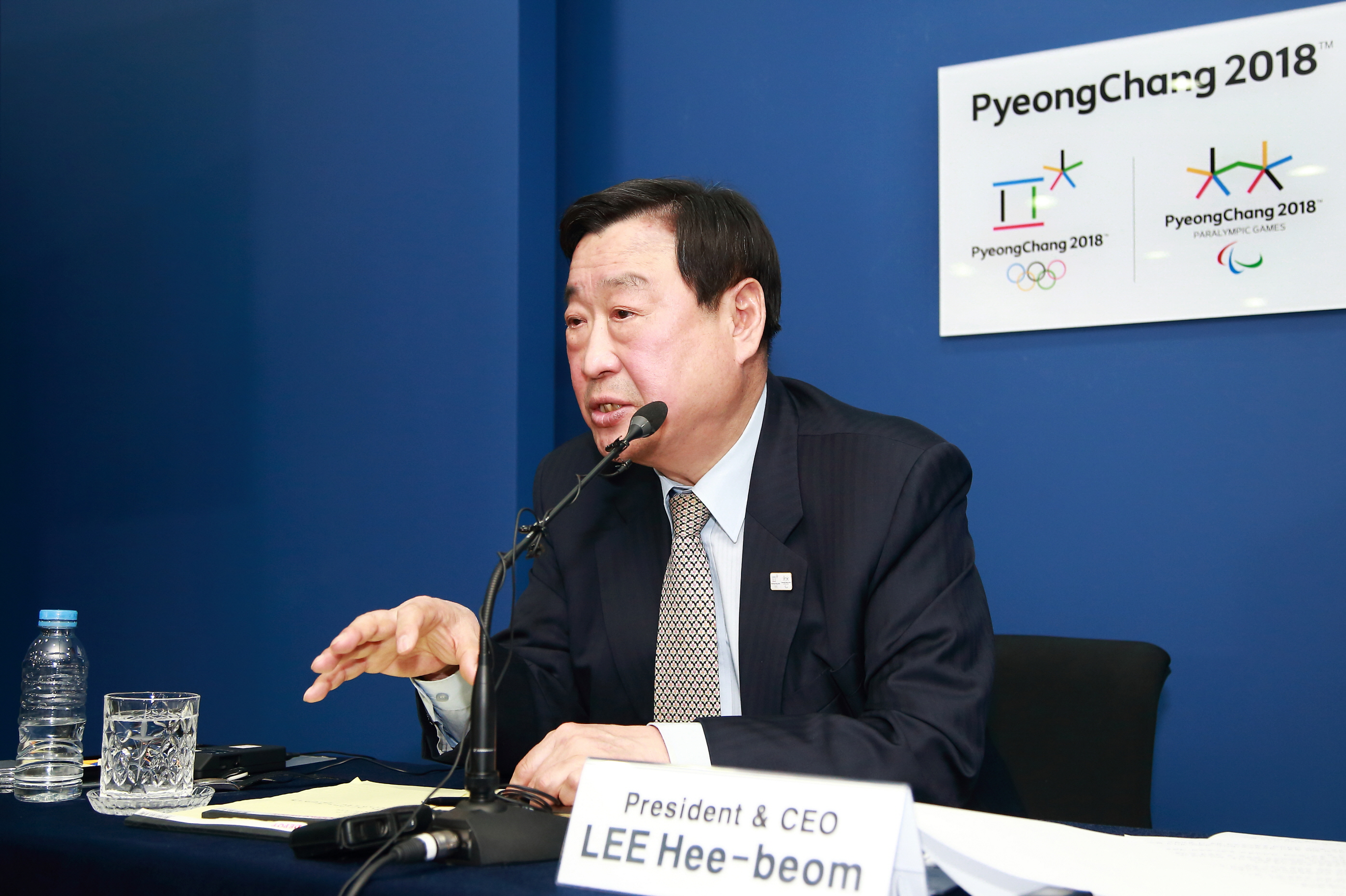 Lee Hee-beom, president & CEO of the PyeongChang Organizing Committee for the 2018 Olympic and Paralympic Winter Games.