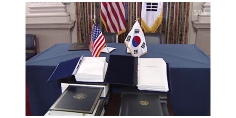 A renegotiation or cancellation of the KORUS FTA is estimated to result in South Korea's export loss of US$6.6 billion to US$17 billion for five years to come.