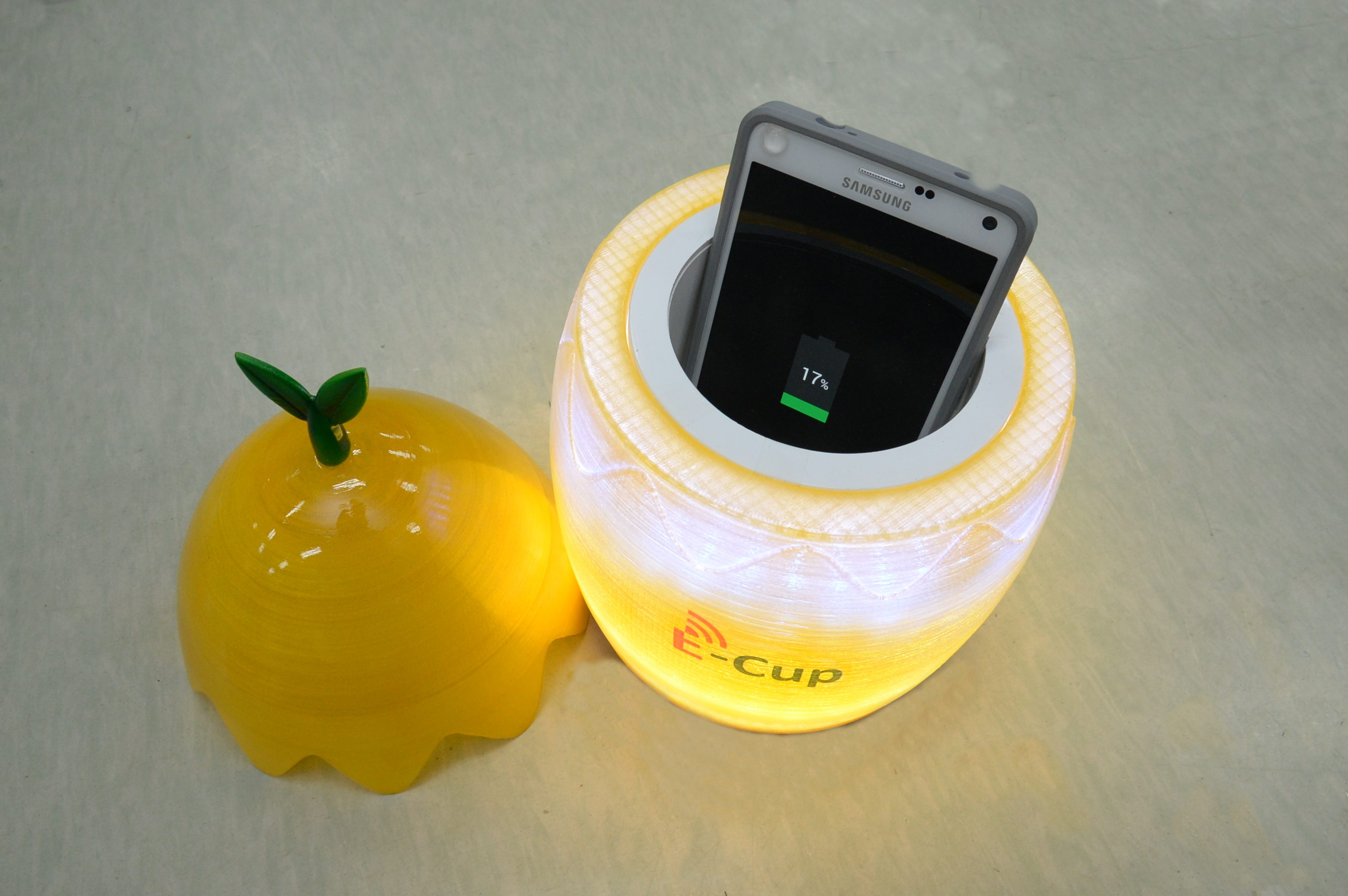 The E-Cup, a 3D wireless charger developed by the ETRI.