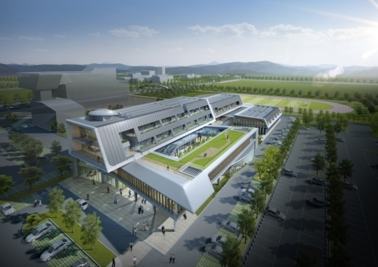 An image of the Energy Valley Project of Bitgaram Innovation City in Gwangju of South Jeolla Province, South Korea.