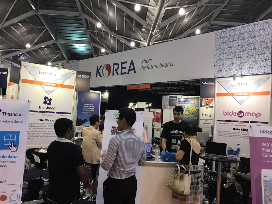 The Korean pavilion at the Echelon Asia Summit 2017.