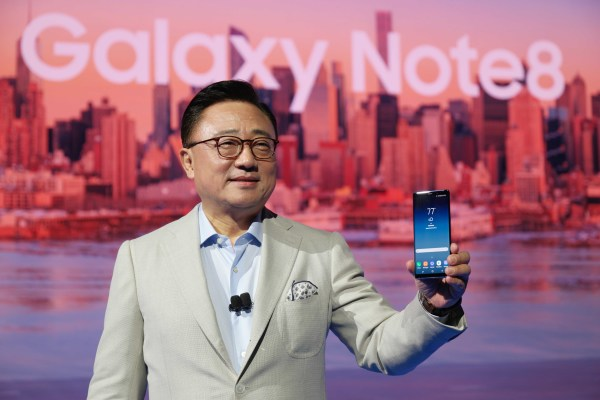 Ko Dong-jin, head of the Mobile Division of Samsung Electronics, made comments about how tough hardware innovation is, just after the unveiling of the Galaxy Note 8 in New York on August 23 (local time).
