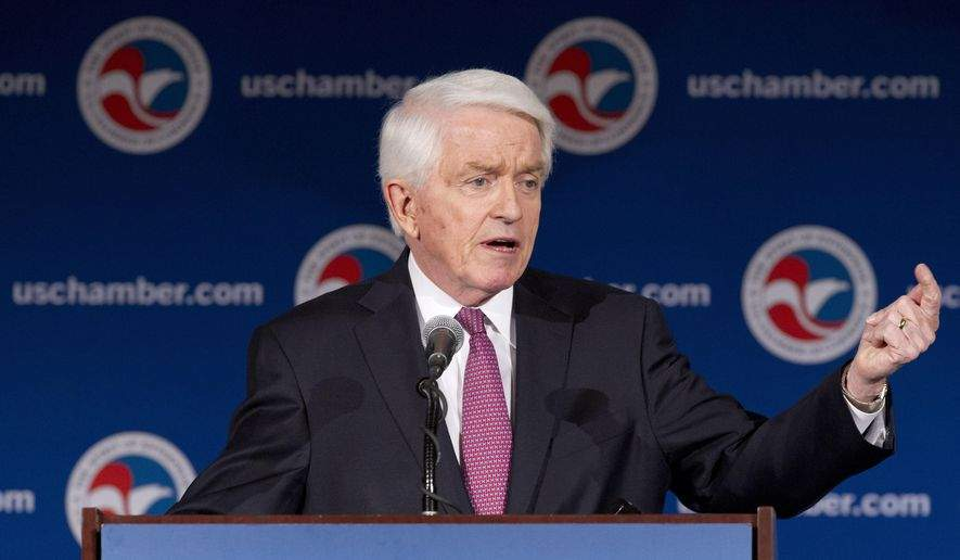 U.S. Chamber President and CEO Thomas J. Donohue strongly opposed the withdrawal of the KORUS FTA in a statement issued on September 5 (local time).