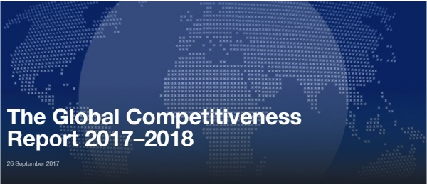 South Korea came in 26th out of 137 countries for the fourth consecutive year in the latest annual Global Competitiveness Report of World Economic Forum (WEF).