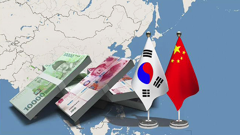 South Korea and China agreed to extend a currency swap amid China's THADD retaliation.
