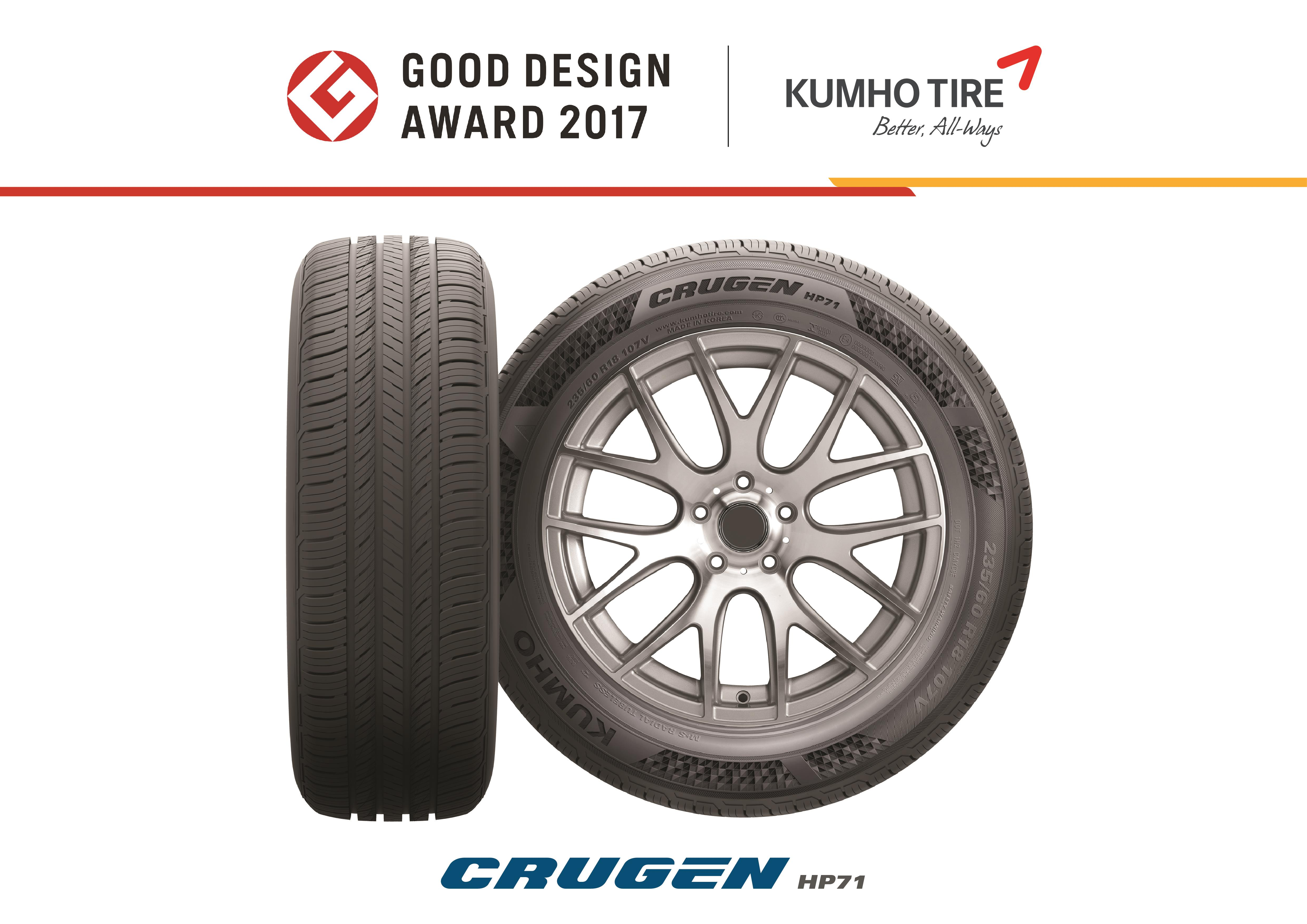 An image of Kumho Tire's Crugen HP71 tire.