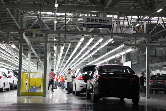 The BAIC Group, the joint venture Beijing Hyundai Motor Company with Hyundai Motor, stopped unilaterally the payment to part suppliers, which caused the shutdown of the factories. (photo courtesy: Hyundai Motor)