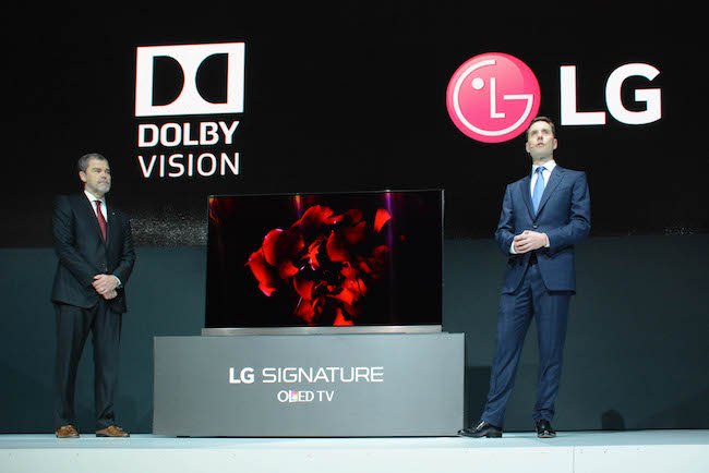 LG Electronics' Signature OLED TV, which made its debut last year using Harman Kardon audio technology, made its debut early this year with Dolby Atmos.(photo courtesy: LG Electronics)