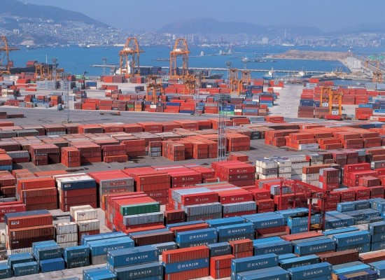 In the first quarter of this year, South Korea's exports increased by 14.7% from a year ago.