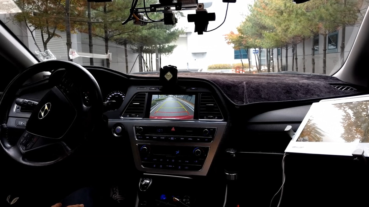 Hyundai Mobis has developed advanced driving technology that can operate in reverse to help drivers back.