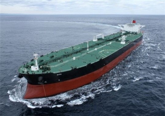 A very large crude oil carrier (VLCC) built by Hyundai Heavy Industries.