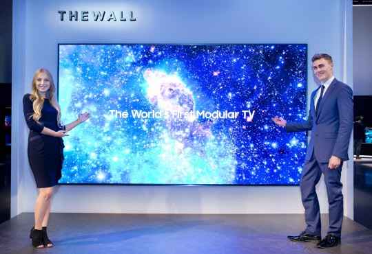 The Wall TV of Samsung Electronics unveiled on January 7