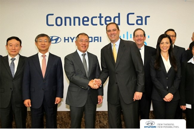 Hyundai Motor Group unveiled in-vehicle networking technology at CES 2018, which has been developed with Cisco.