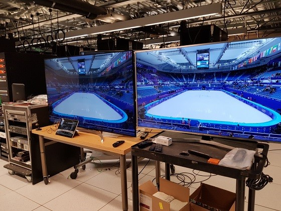 LDM-based UHD and mobile HD broadcasting of the 2018 Winter Olympics. (photo courtesy of ETRI)