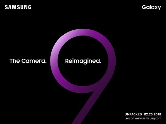 An image of the invitation card to Samsung's Galaxy S9 Unpack Event.