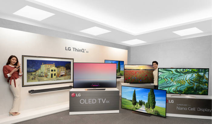 LG Electronics has released the 10 new OLED TVs with the price being approximately 20 percent lower than a year earlier in a bid to popularize OLED TVs.