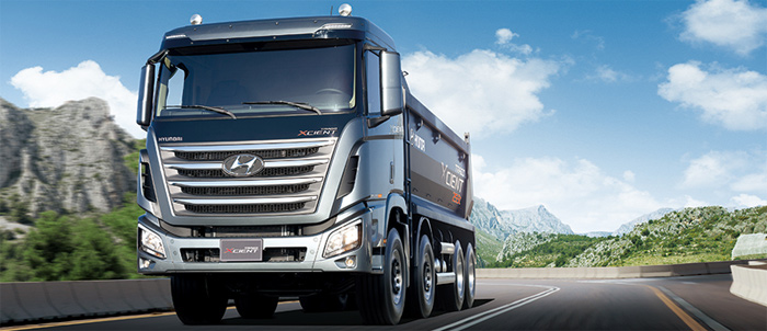 The Hyundai Motor Group set a goal of launching eco-friendly electric models of small trucks such as the Porter, medium-sized buses and the heavy truck Xient, regardless of sizes and types starting next year.