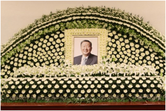 The Korean business community expressed its sorrow to the death of LG Group Chairman Koo Bon-moo.