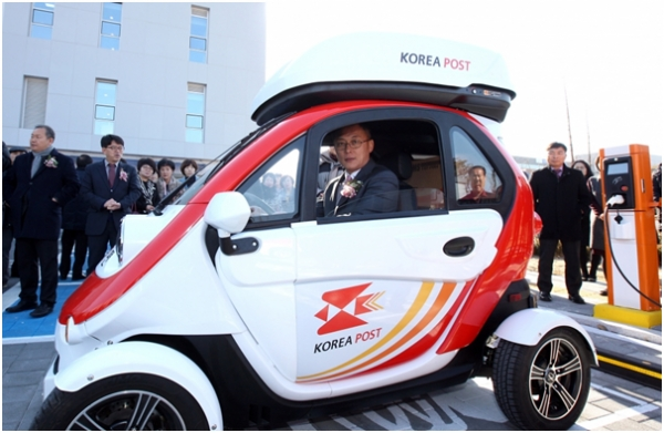 The Korea Post Will Increase Its Fleet Of Miniature Electric Cars From Ten To 1 000 By