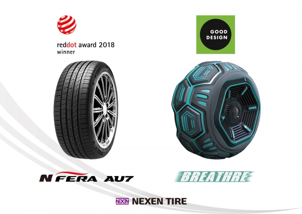 Nexen Tire's award-winning products.