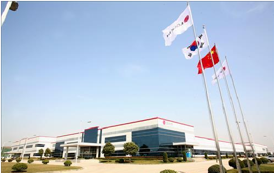 LG Chem's electric vehicle battery plant in China.