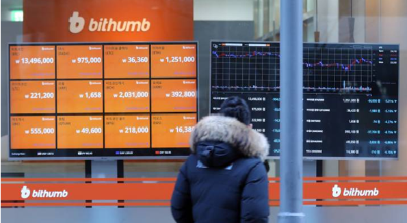 South Korea's biggest cryptocurrency exchange Bithumb will ban digital asset trading with investors in North Korea, Iran, Iraq, and eight other countries.