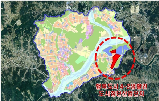 The location of Sejong Tech Valley in Sejong City Administrative City