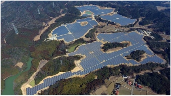 LG CNS has completed a 56-megawatt solar power plant on an abandoned 27-hole golf course in Mine City, Yamaguchi of Japan.