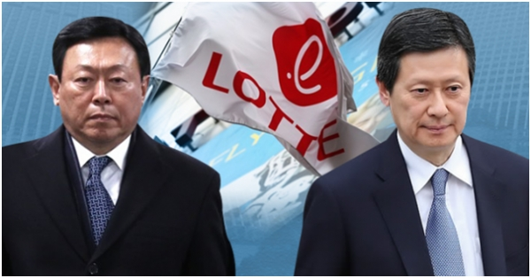 Lotte Group chairman Shin Dong-bin (left) will hold another round of proxy contest with his elder brother Shin Dong-ju, a former vice chairman of Lotte Holdings in Japan.