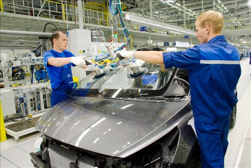 Hyundai Motor Group's production line in Russia