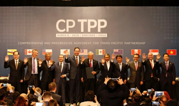 The Comprehensive and Progressive Agreement for Trans-Pacific Partnership (CPTPP) was launched in March this year with its founding members including Japan, Australia, New Zealand, Canada, Mexico, Chile, Peru, Singapore, Vietnam, Malaysia and Brunei.