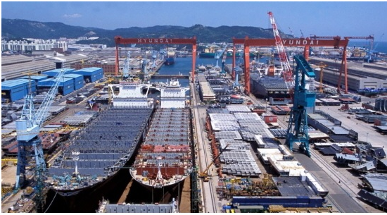 The three major Korean shipbuilders achieves only half of their targets that they had set at the beginning of this year at the moment when two thirds of this year already passed.