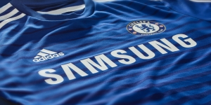 In this T Shirt, Samsung and Adidas are both sponsoring Chelsea Football Club